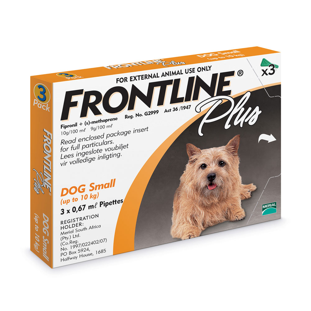 Frontline Plus < 10 kg Small Dogs Box of 3