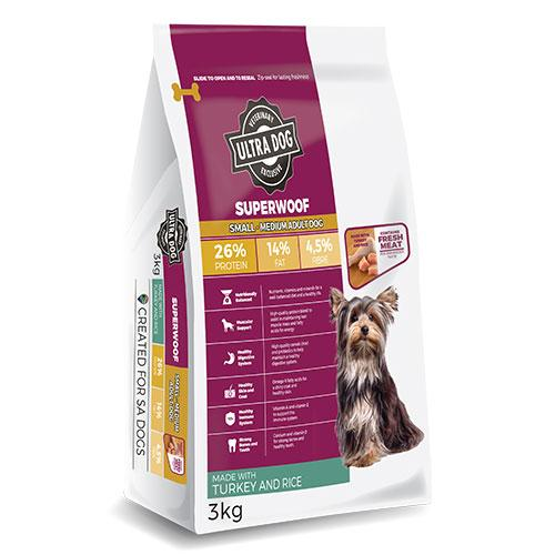 Ultra Dog Superwoof Small Adult Turkey and Rice