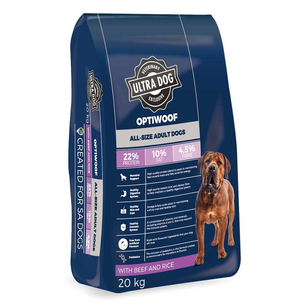 Ultra Dog OptiWoof Adult - Medium to Large Breed