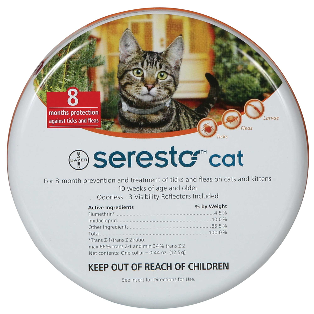 Seresto Collar for Tick and Flea Treatment for Cats