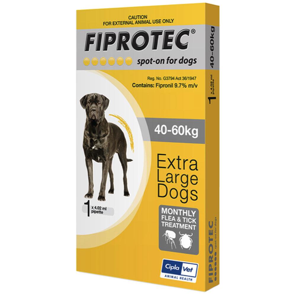 Fiprotec 40 kg - 60 kg XL Dog