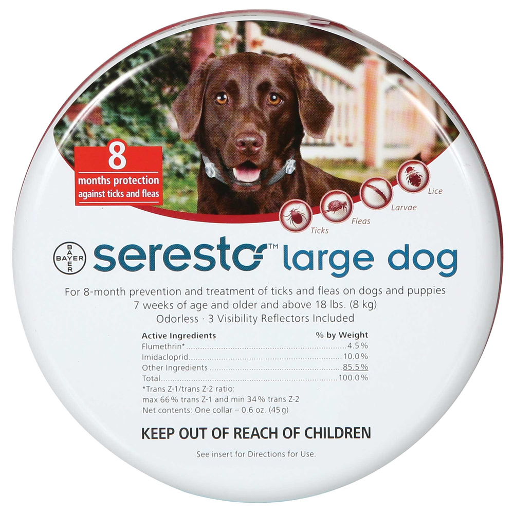 Seresto Collar for Tick and Flea Treatment for Large Dogs
