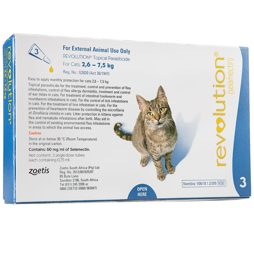 Revolution (pack of 3 doses) for Cats 2.6 - 7.5kg