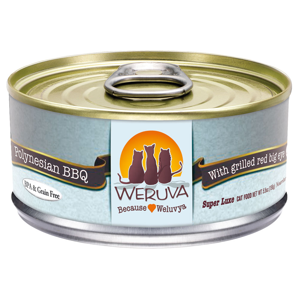 Weruva Polynesian BBQ Cat Food in a Can