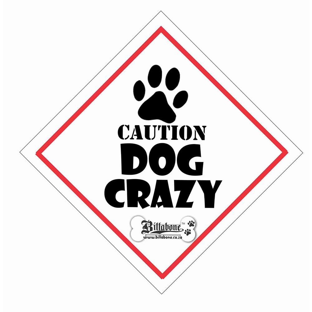 "Billabone - ""Caution Dog Crazy"" On Board Sign"