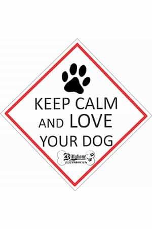 """Billabone - """"Keep calm and love your dog"""" On Board Sign"""