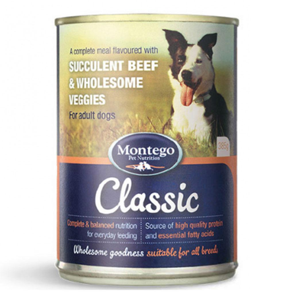 Montego Classic Adult Dog Wet food - Succulent Beef & Wholesome Veggies