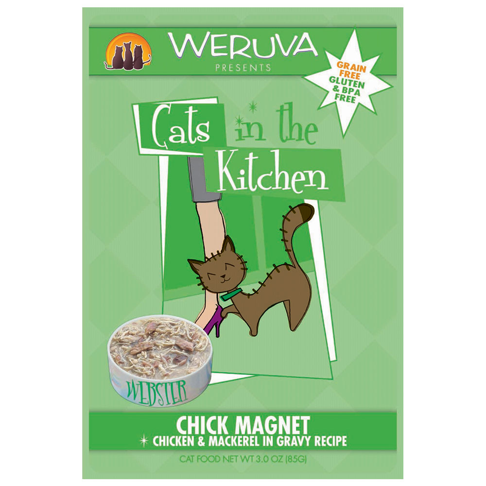Weruva Cat in the Kitchen Chick Magnet Pouch