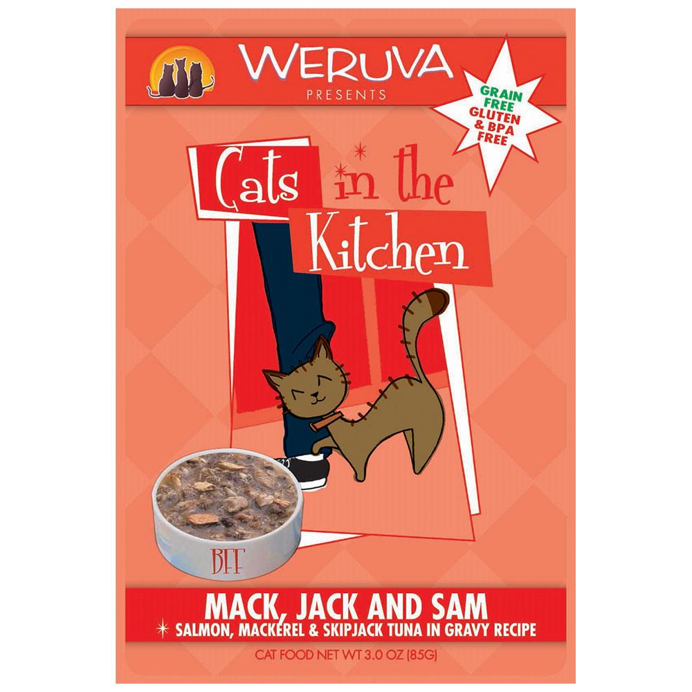 Weruva Cat in the Kitchen Mack, Jack and Sam Pouch