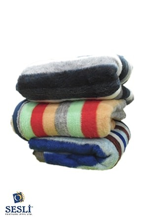 Sesli Striped Pet Blanket