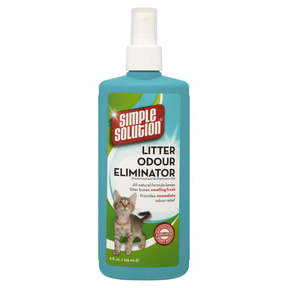 Simple Solution Cat Litter Odour Eliminator freshens your Cats Litter Box quickly and safely