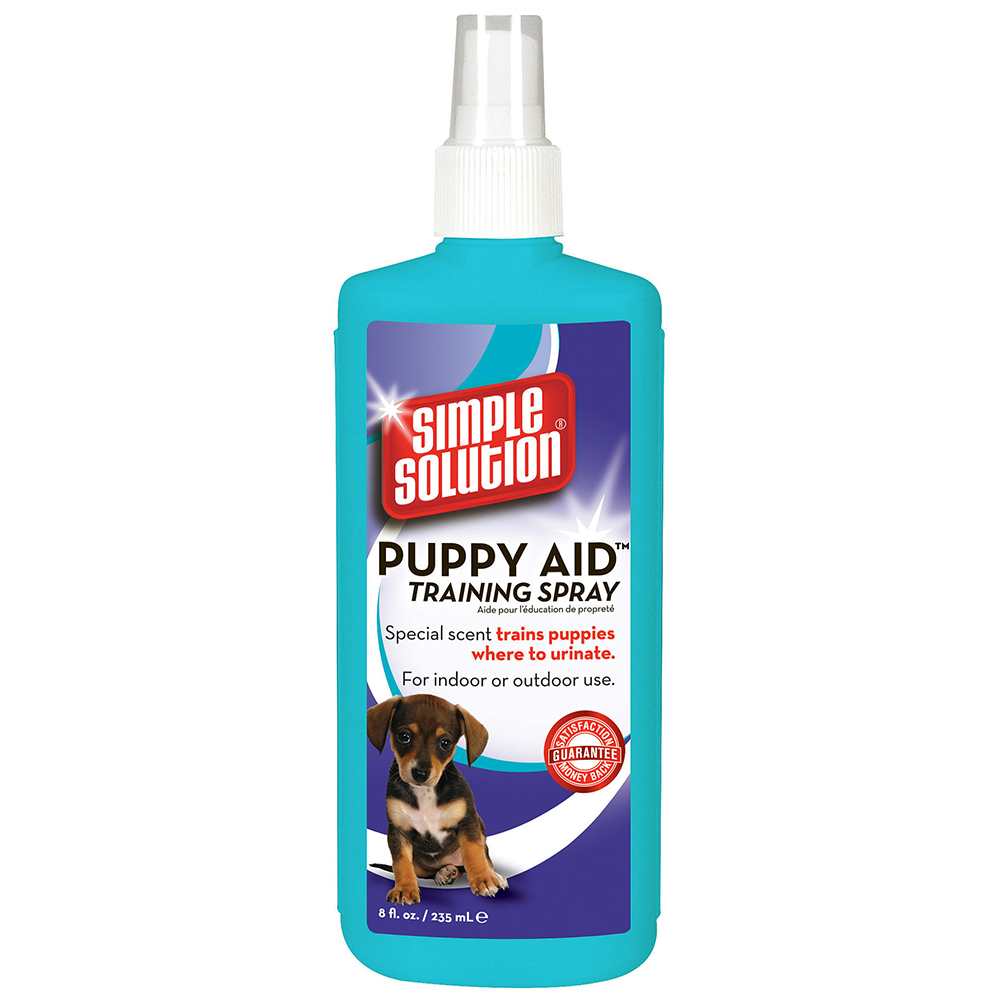 Simple Solution Puppy Aid Training Spray reduces house training time