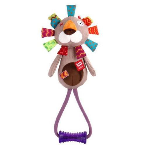 Gigwi Toy Plush Friends Lion With Johnny Stick