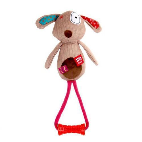 Gigwi Toy Plush Friends Dog With Johnny Stick