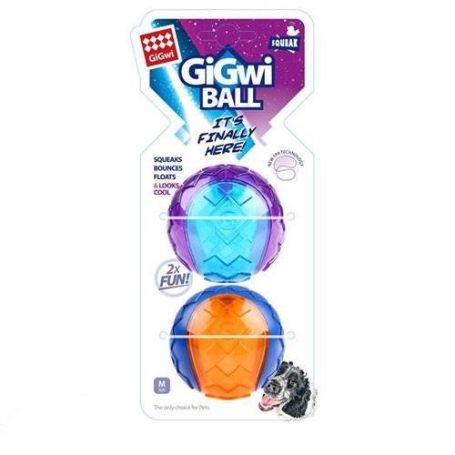 Gigwi Toy Squeaker Ball Medium - 2 Pack