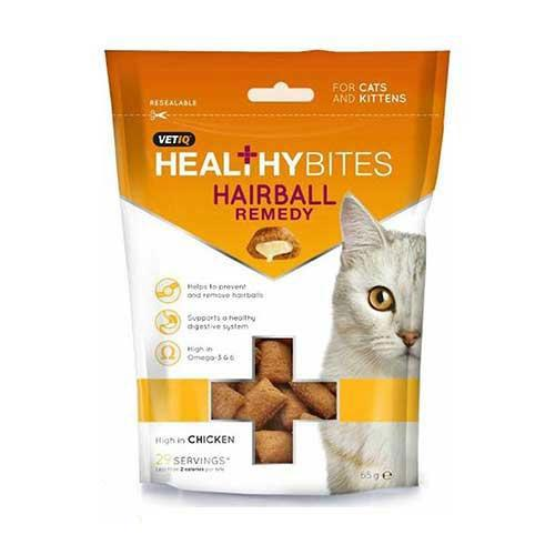 Mark &Chappell Healthy Bites Hairball Remedy Treats for Cats