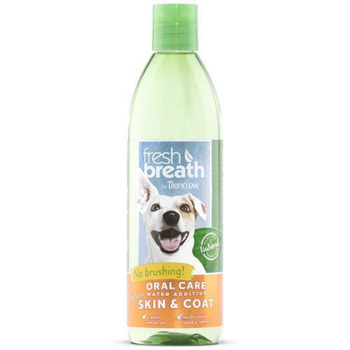 TropiClean Fresh Breath Plus Skin and Coat Water Additive