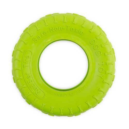 Uptown Dog Tyre - Green/Yellow - 10 cm