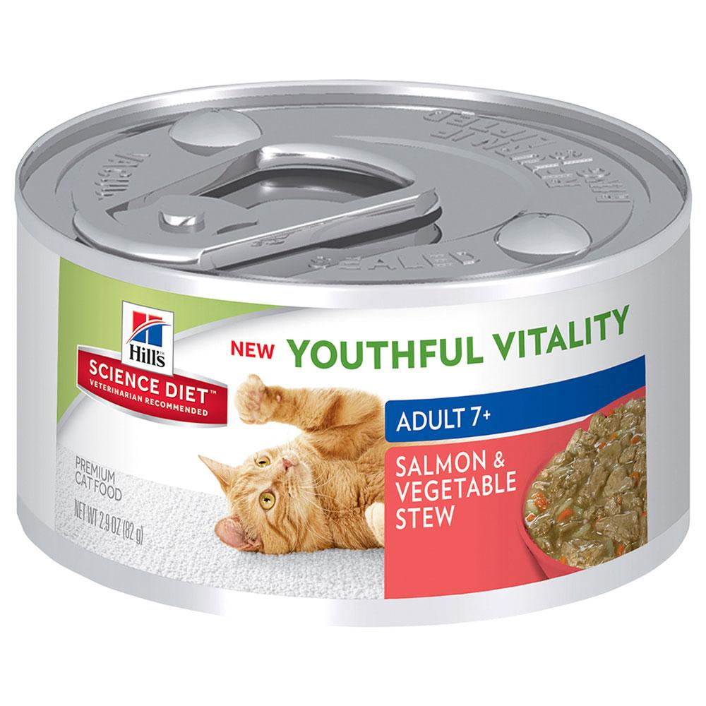 Hill's Feline Youthful Vitality Stew Can
