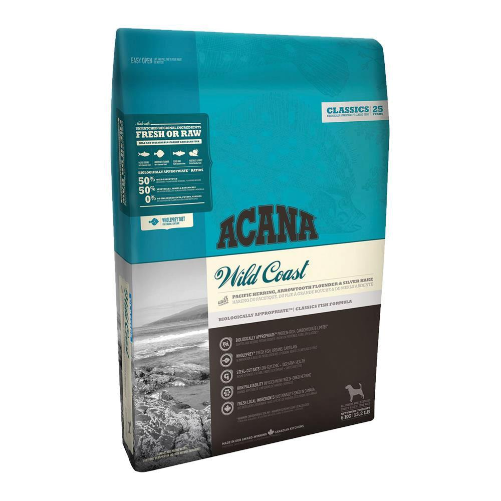 Acana Classic Wild Coast Flavoured High Protein Dog Food for All Dog Breeds