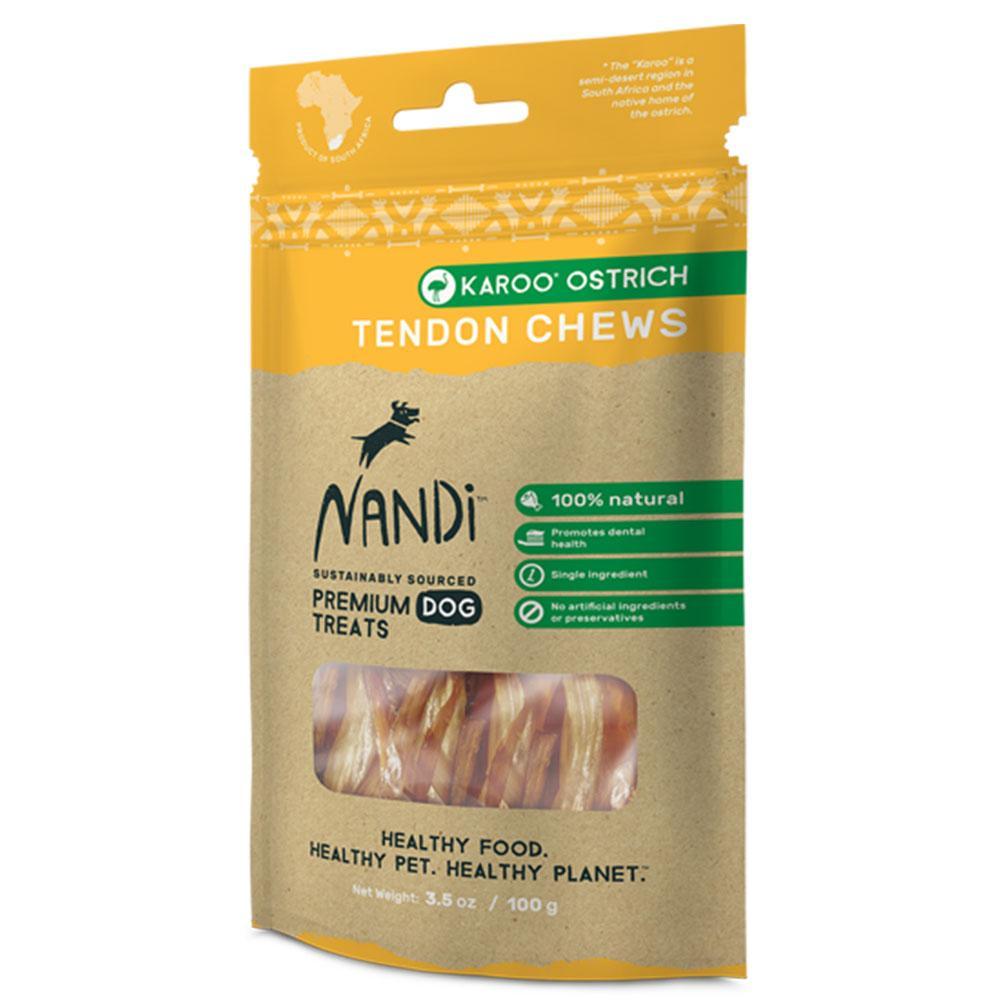 Nandi Tendon Chews Ostrich Dog Treat