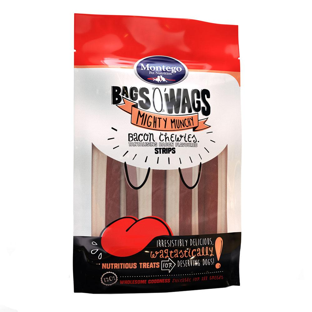 Montego Bags O' Wags Chewies Bacon Strips
