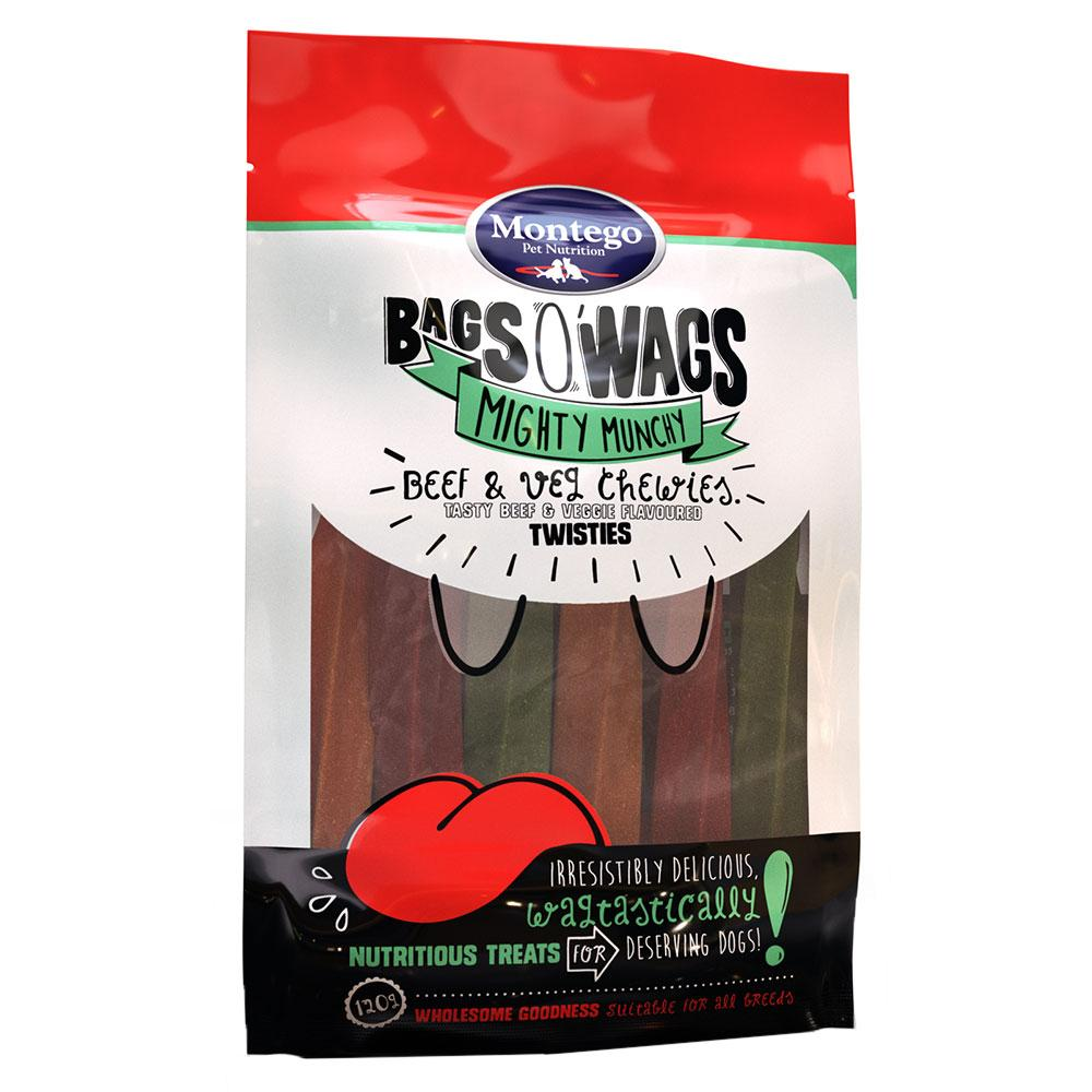 Montego Bags O' Wags Chewies Beef and Veg Twisties
