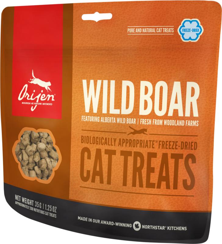Orijen Wild Roaming Boar formula cat freeze dried treats