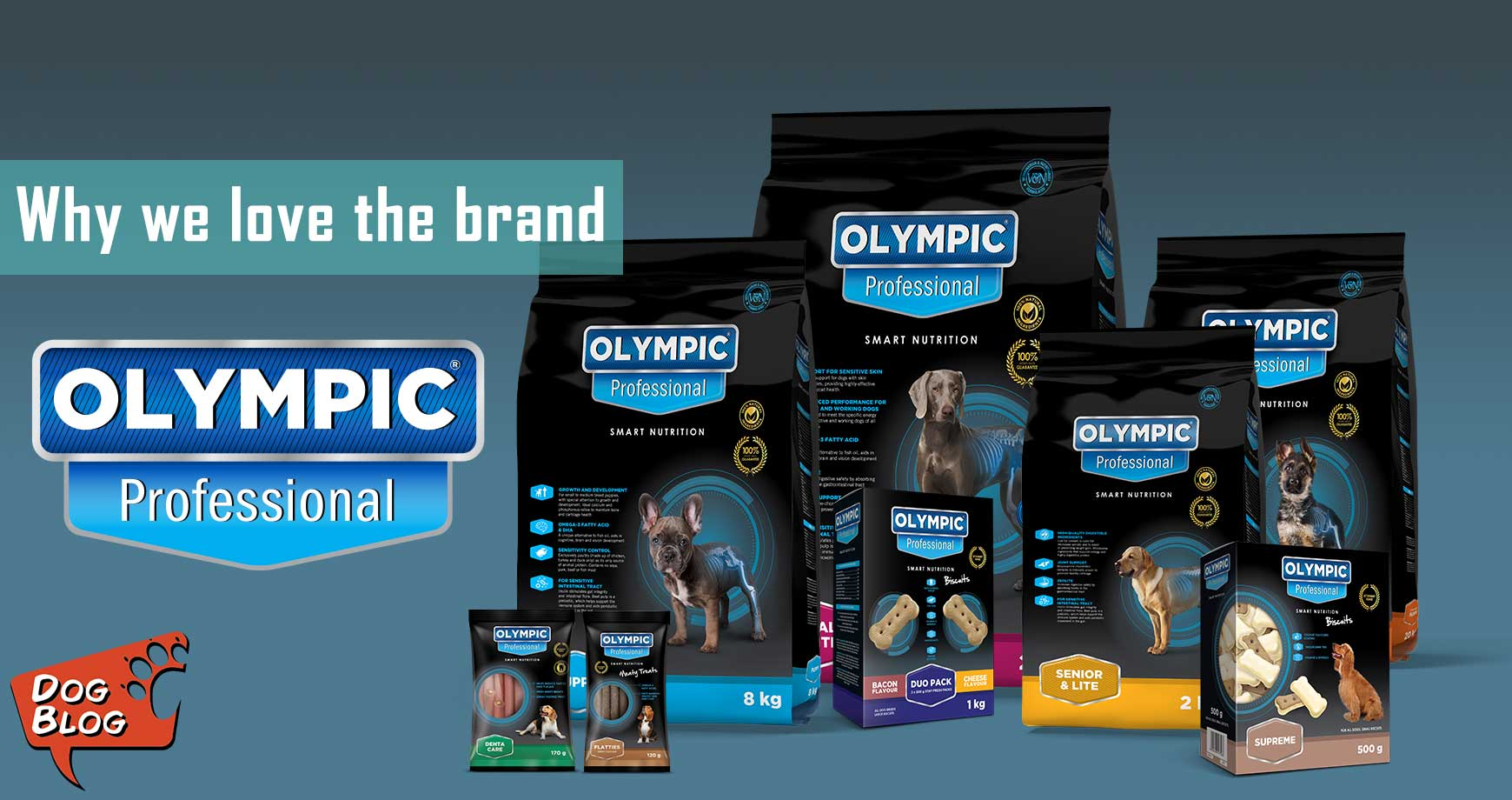 why Pet Hero loves Olympic Professional Dog food and treats