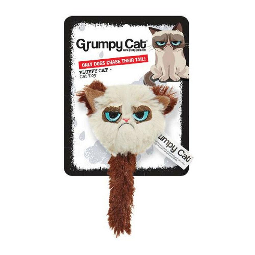 Rosewood Fluffy Grumpy Cat Toy