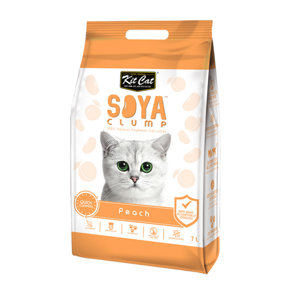 Kit Cat Soya Litter - Peach 2.8 kg