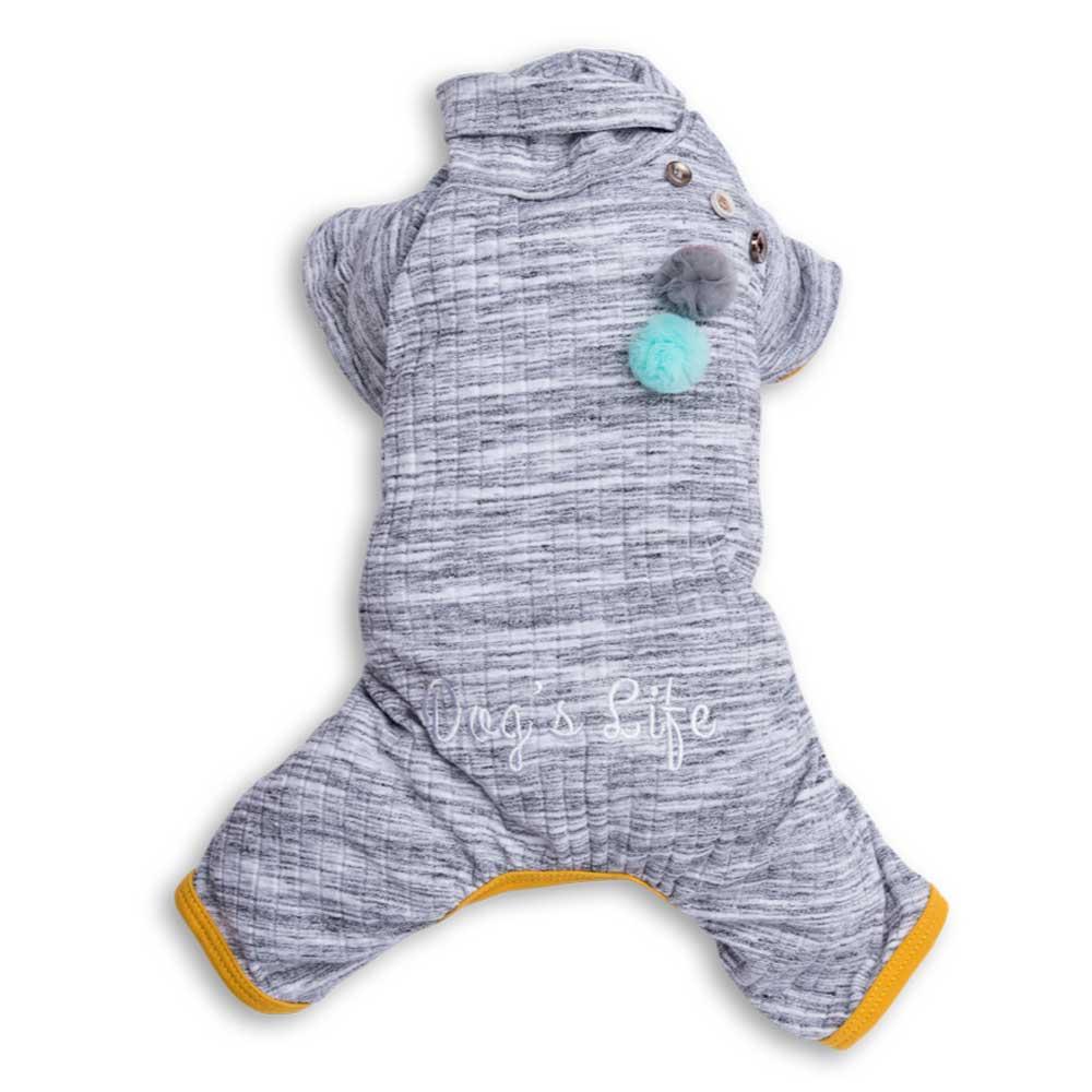 Dog's Life Turtle Pullover Pajamas (Grey)