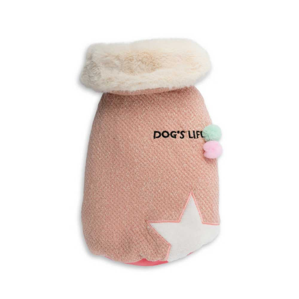 Dog's Life Woolly Cape (Pink)
