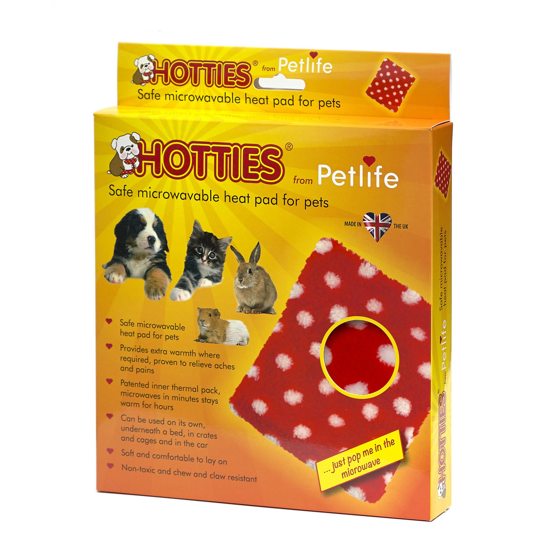 Petlife Hotties with Red Polka Dot Fleece Cover