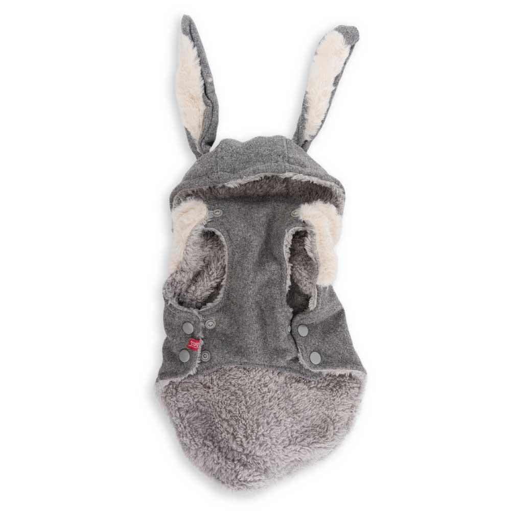 Dog's Life Hare Hooded Coat Grey (back)